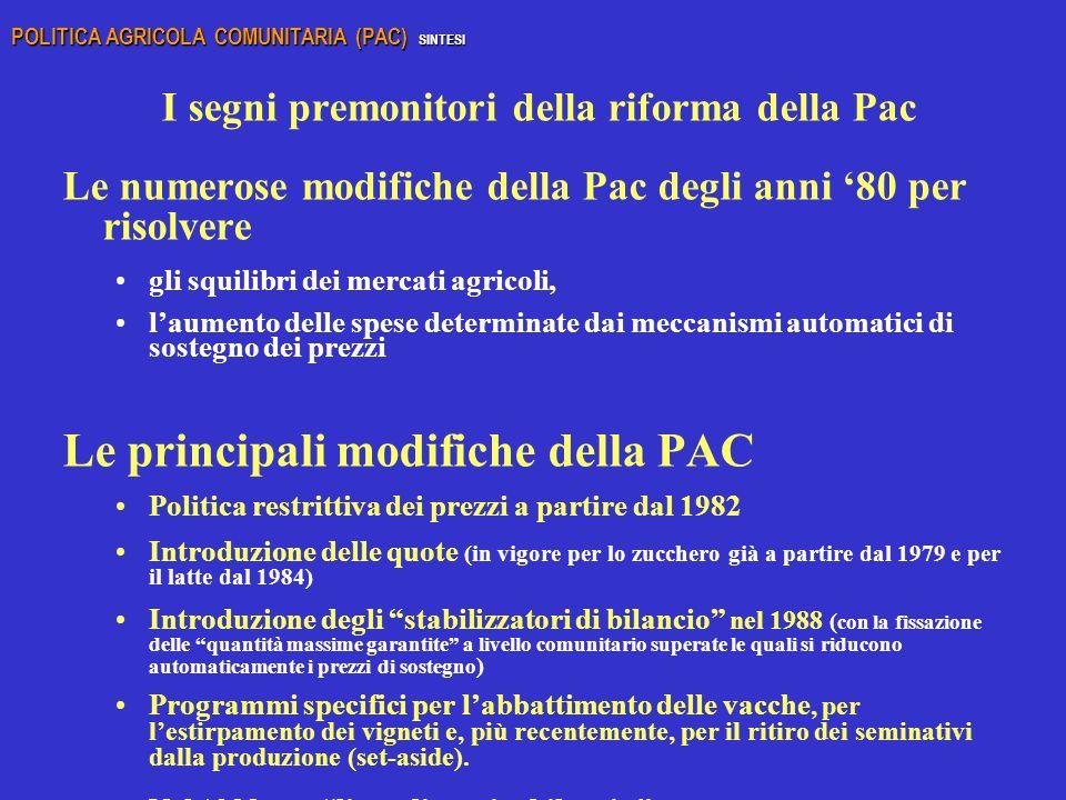 I segni premonitori della riforma della Pac