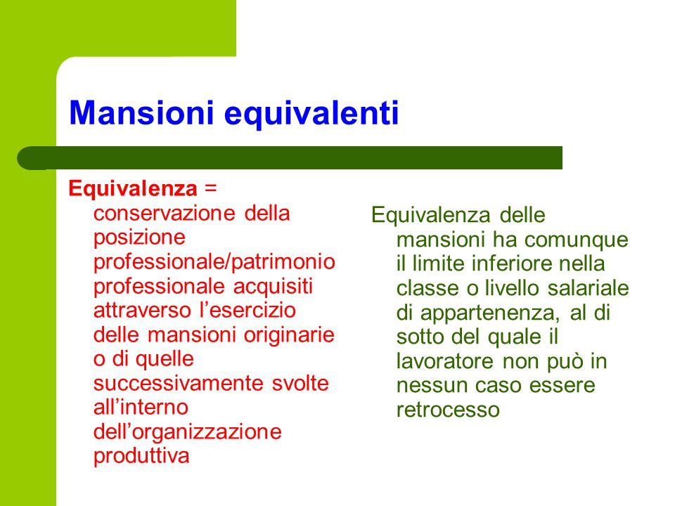 Mansioni equivalenti