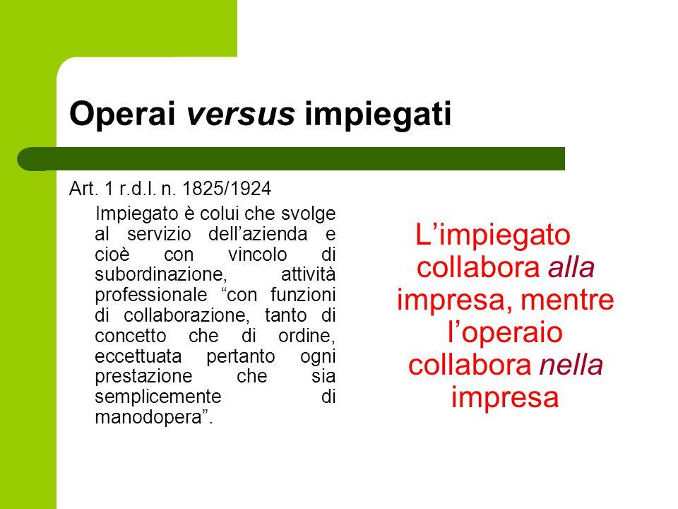 Operai versus impiegati