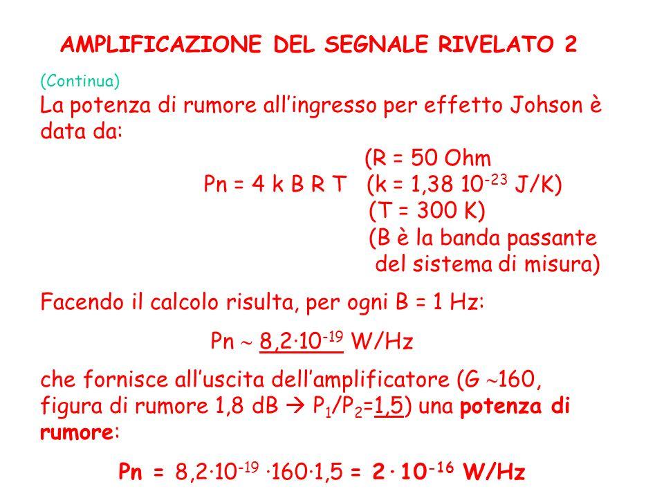 AMPLIFICAZIONE DEL SEGNALE RIVELATO 2