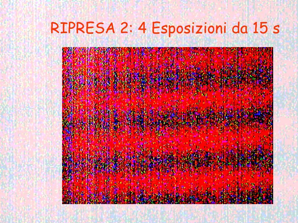 RIPRESA 2: 4 Esposizioni da 15 s