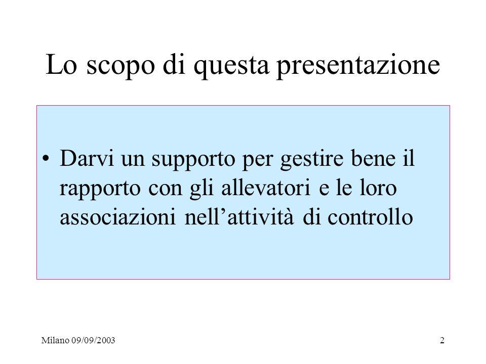 Lo scopo di questa presentazione