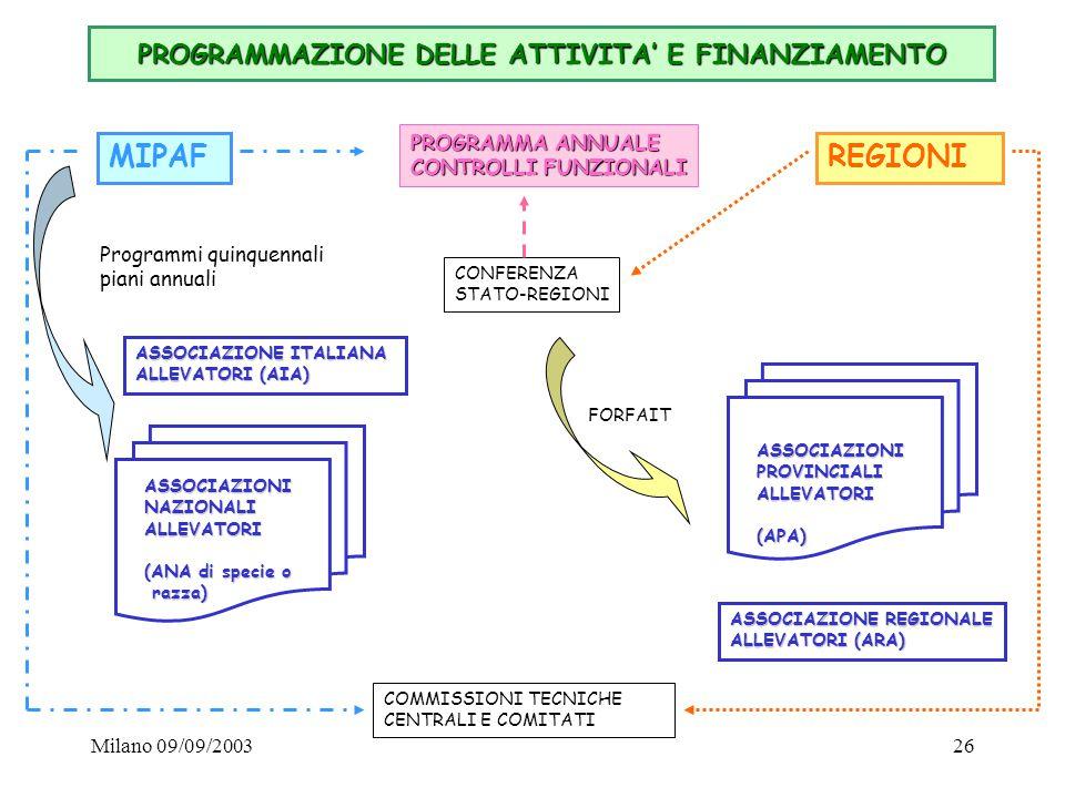 PROGRAMMAZIONE DELLE ATTIVITA' E FINANZIAMENTO