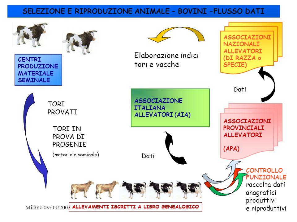 SELEZIONE E RIPRODUZIONE ANIMALE – BOVINI -FLUSSO DATI
