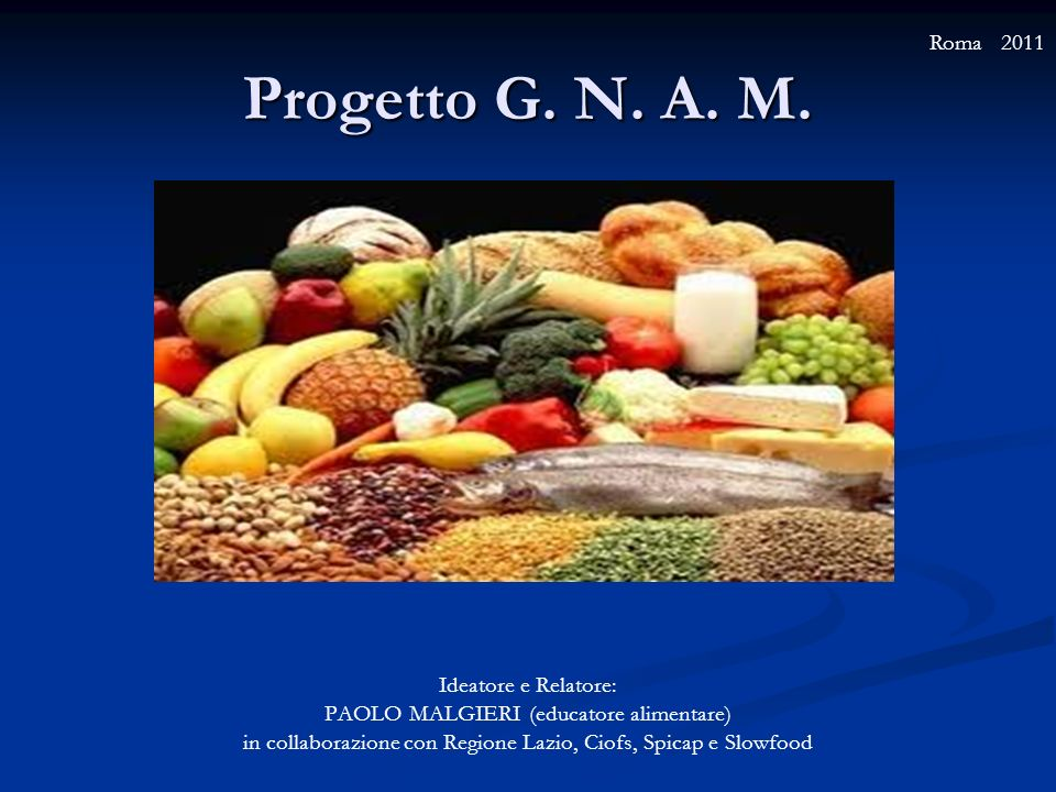Progetto G. N. A. M. Roma 2011 Ideatore e Relatore:
