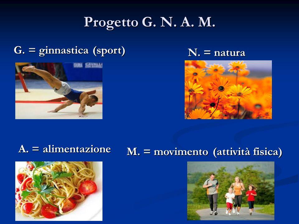 Progetto G. N. A. M. G. = ginnastica (sport) N. = natura