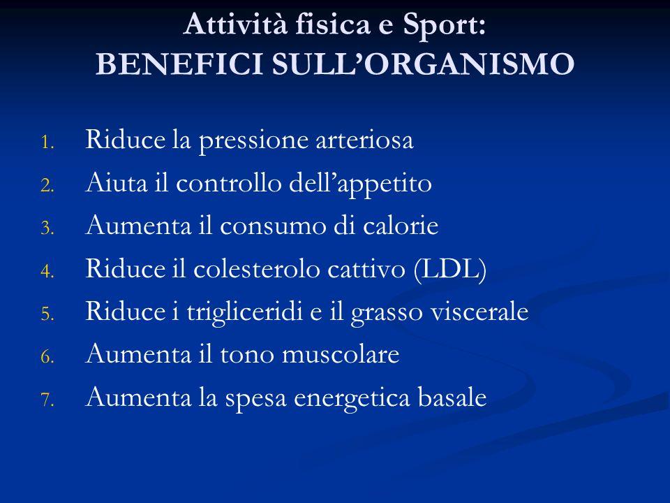 Attività fisica e Sport: BENEFICI SULL'ORGANISMO