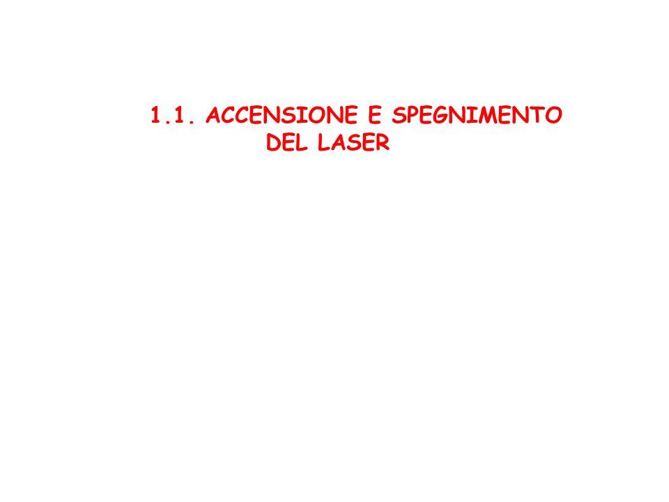 1.1. ACCENSIONE E SPEGNIMENTO