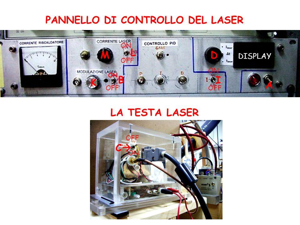 PANNELLO DI CONTROLLO DEL LASER