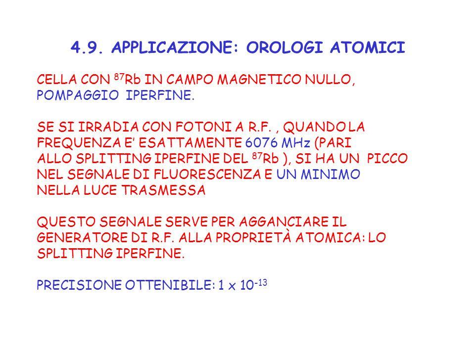 4.9. APPLICAZIONE: OROLOGI ATOMICI