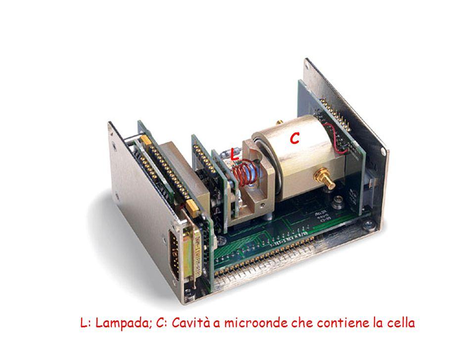 C L L: Lampada; C: Cavità a microonde che contiene la cella