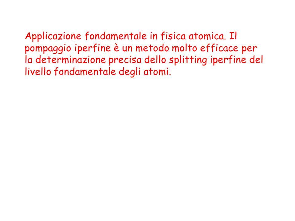 Applicazione fondamentale in fisica atomica