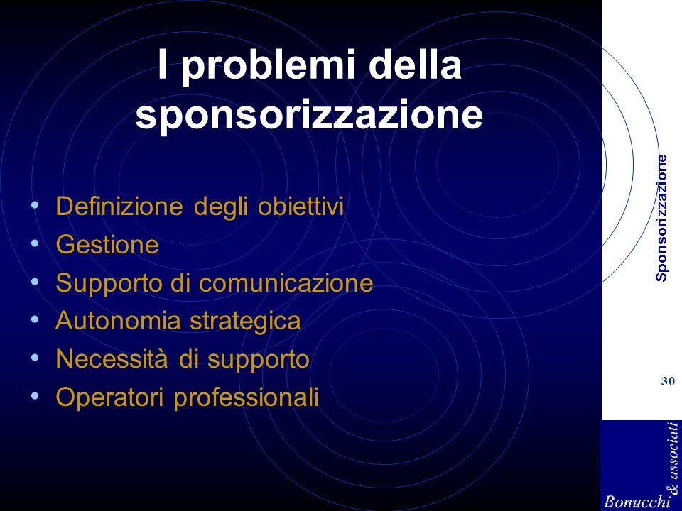 I problemi della sponsorizzazione