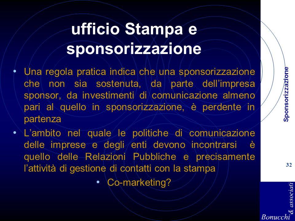 ufficio Stampa e sponsorizzazione