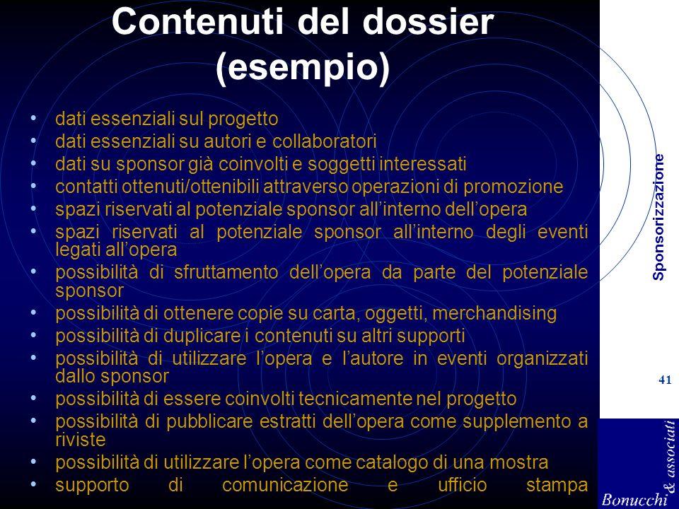 Contenuti del dossier (esempio)