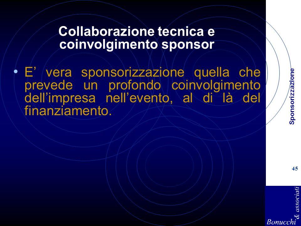 Collaborazione tecnica e coinvolgimento sponsor