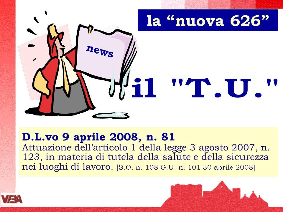 la nuova 626 news. il T.U.