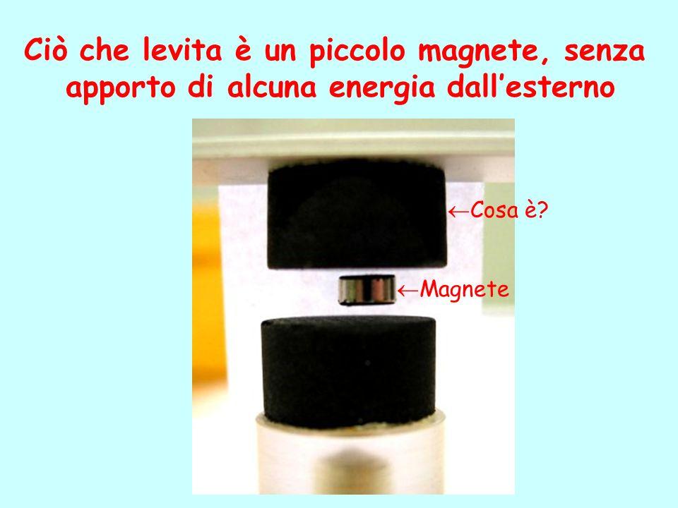Ciò che levita è un piccolo magnete, senza