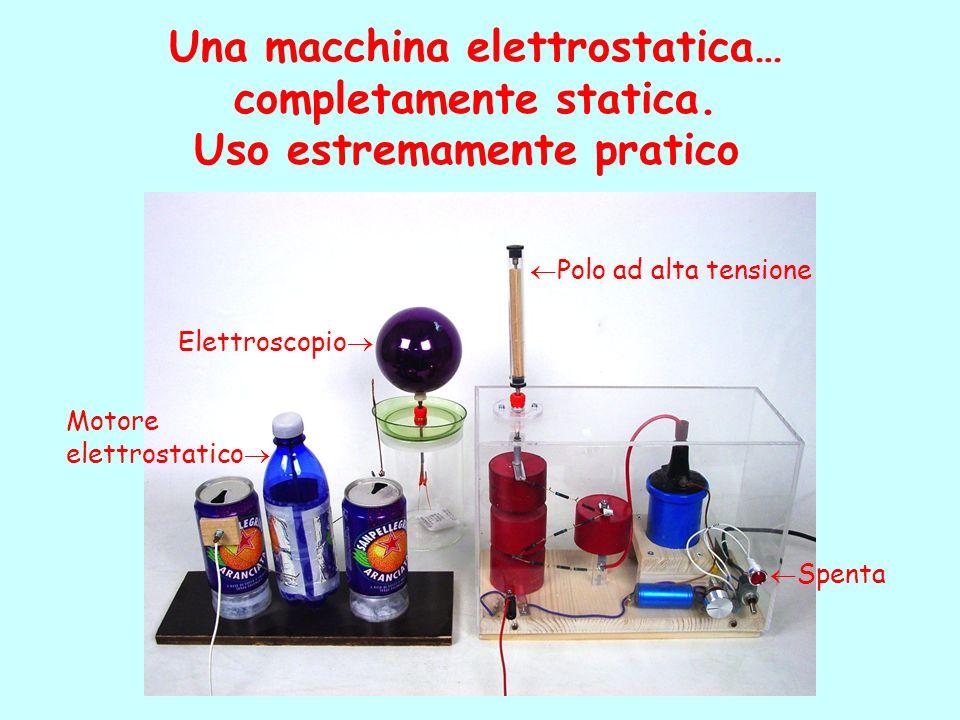 Una macchina elettrostatica… completamente statica.