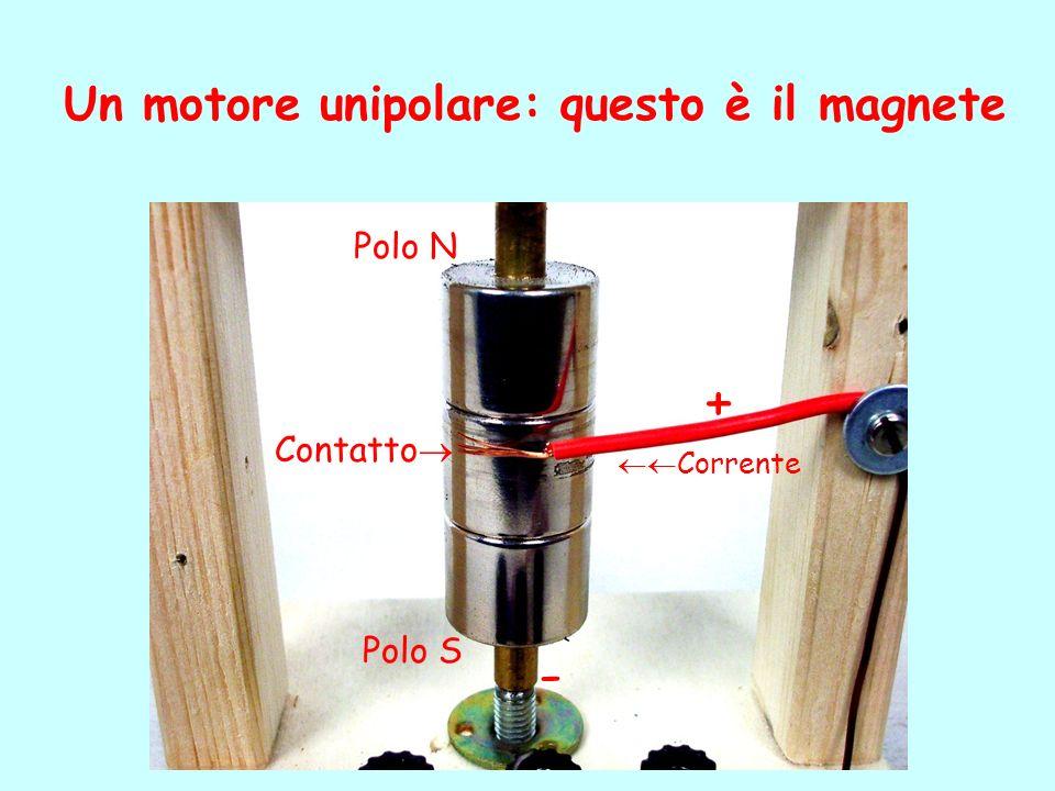 + - Un motore unipolare: questo è il magnete Polo N Contatto Polo S