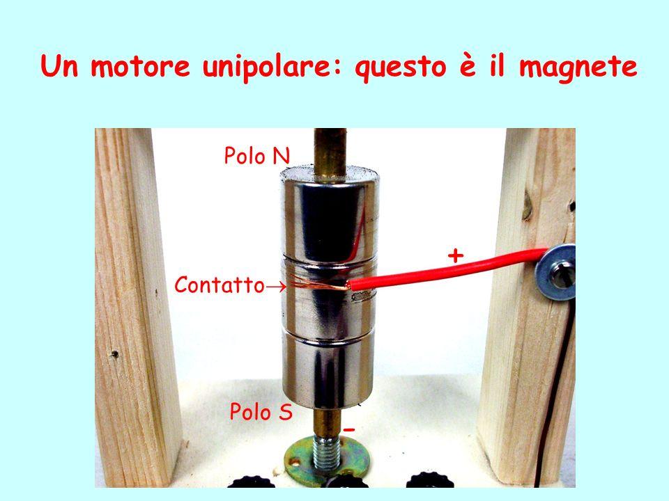 Un motore unipolare: questo è il magnete