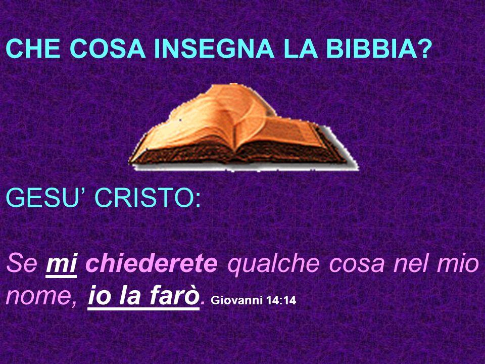CHE COSA INSEGNA LA BIBBIA