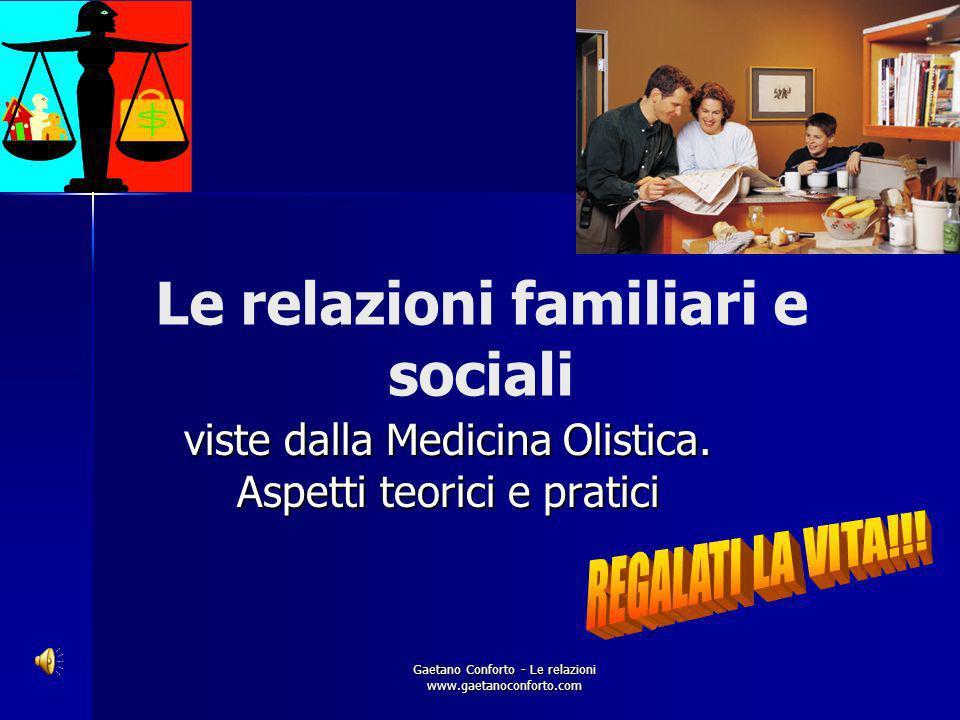 Le relazioni familiari e sociali