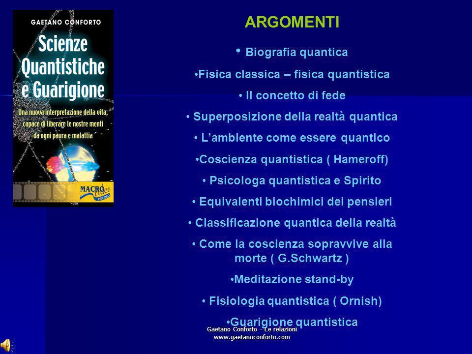 ARGOMENTI Biografia quantica