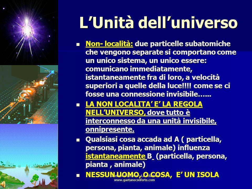 L'Unità dell'universo