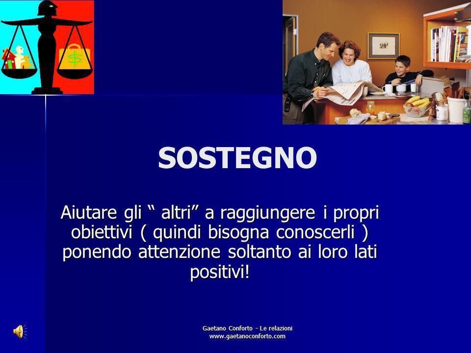 Gaetano Conforto - Le relazioni www.gaetanoconforto.com