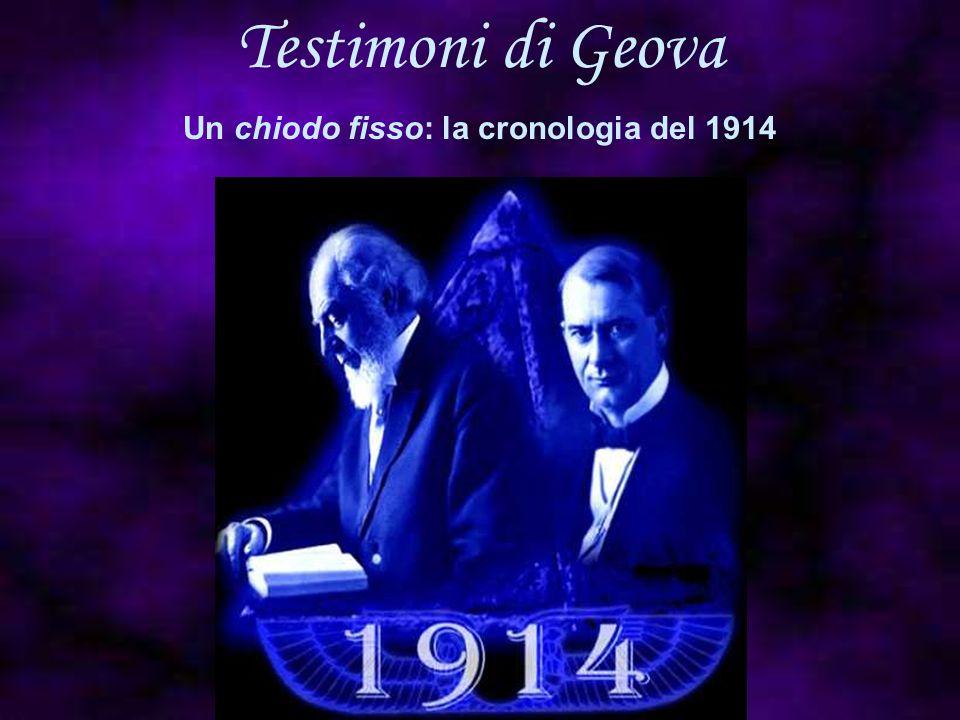 Un chiodo fisso: la cronologia del 1914