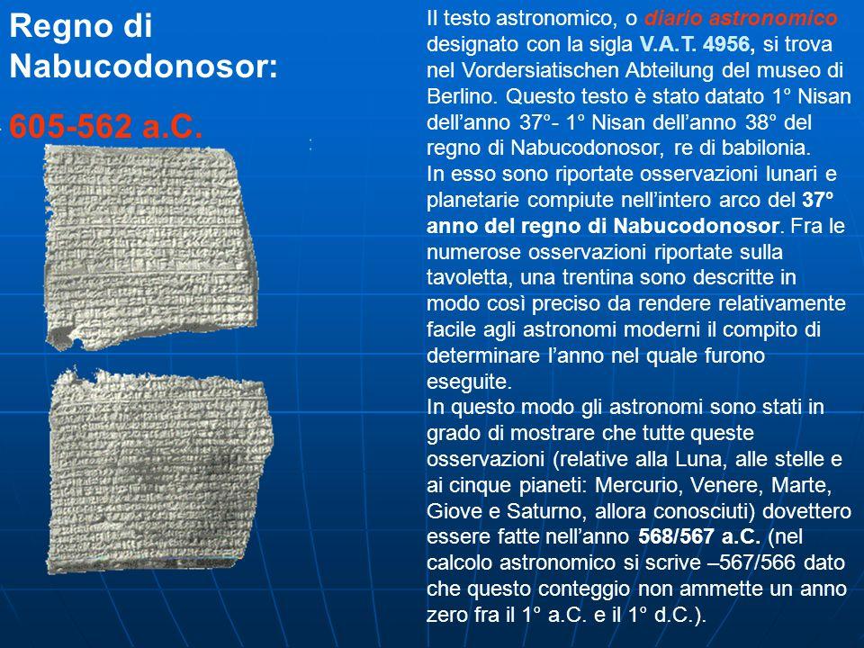 Regno di Nabucodonosor: 605-562 a.C.