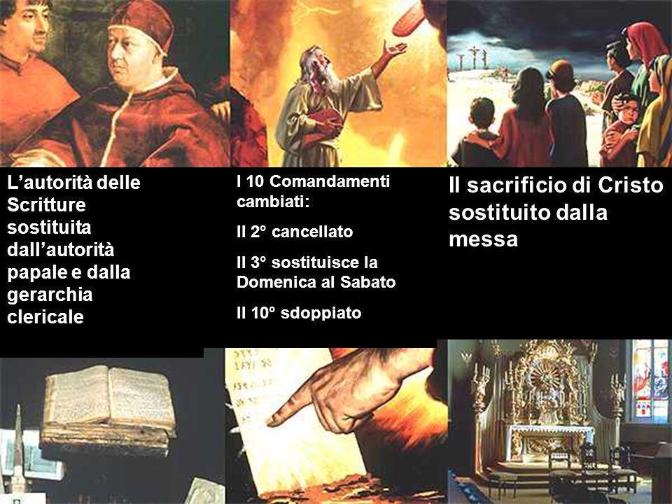 Il sacrificio di Cristo sostituito dalla messa