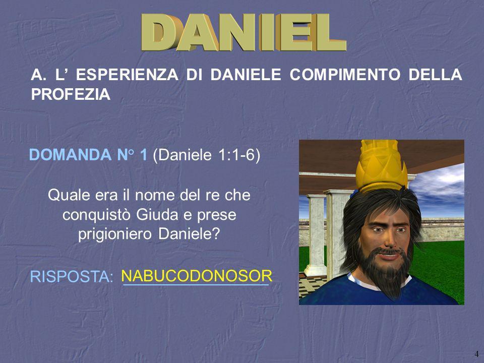 A. L' ESPERIENZA DI DANIELE COMPIMENTO DELLA PROFEZIA