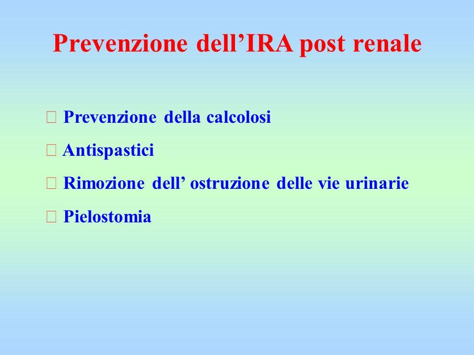 Prevenzione dell'IRA post renale