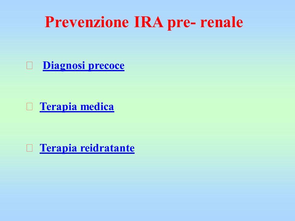 Prevenzione IRA pre- renale