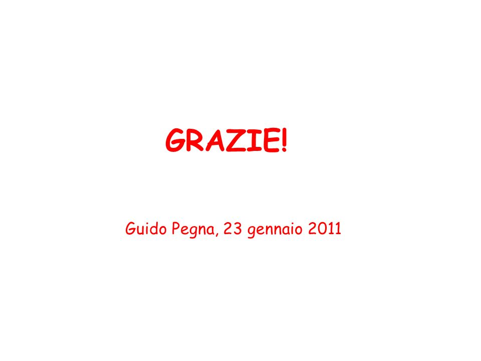 GRAZIE! Guido Pegna, 23 gennaio 2011