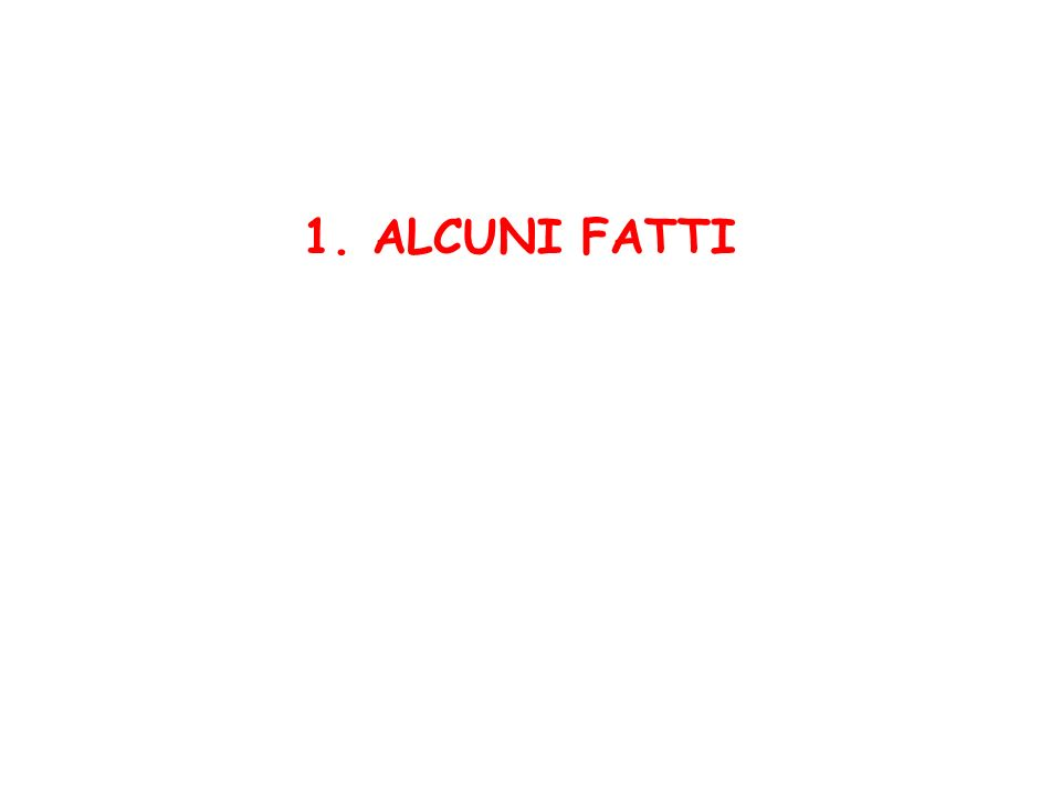 1. ALCUNI FATTI