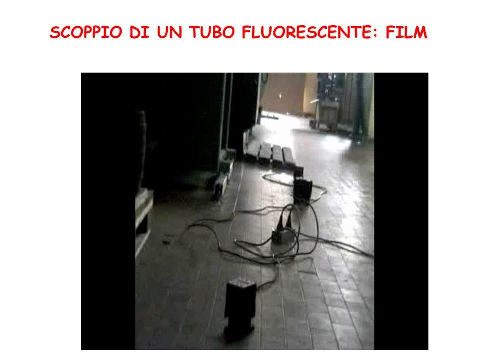 SCOPPIO DI UN TUBO FLUORESCENTE: FILM
