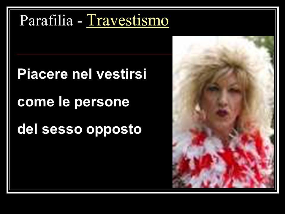 Parafilia - Travestismo