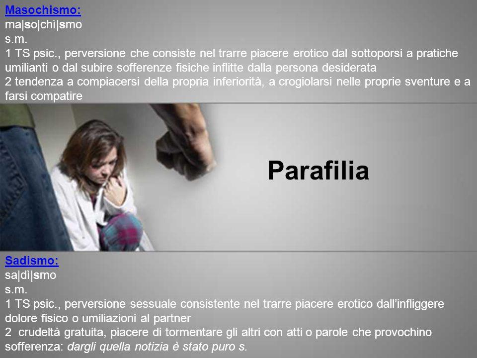 Parafilia Masochismo:
