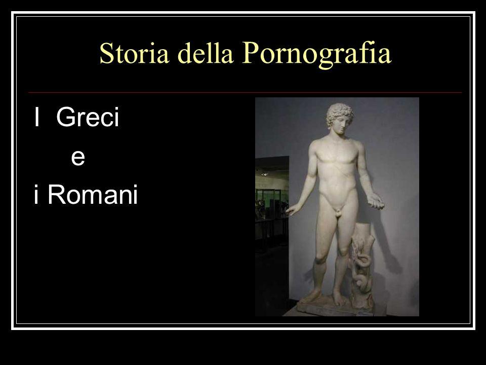 Storia della Pornografia