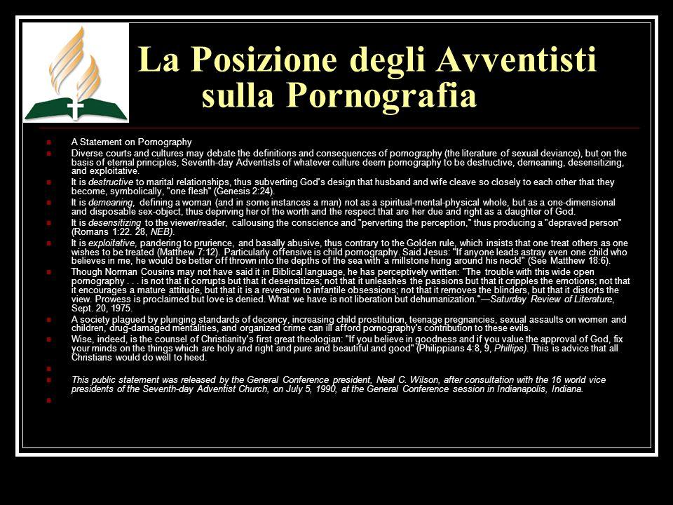 La Posizione degli Avventisti sulla Pornografia