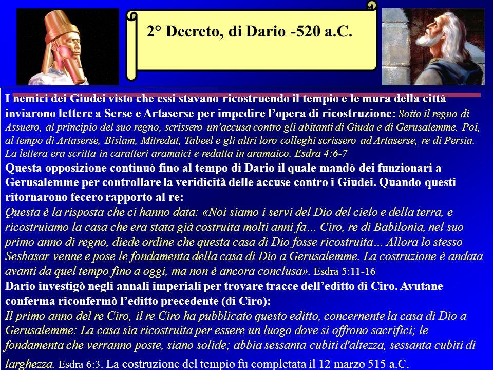 2° Decreto, di Dario -520 a.C.