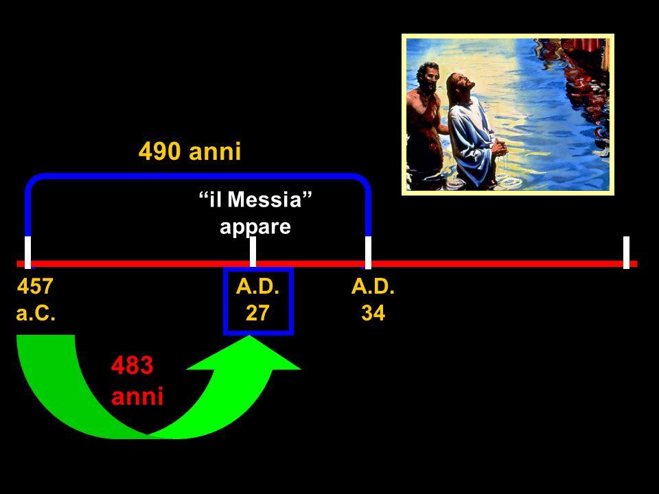 490 anni 483 anni il Messia appare 457 a.C.