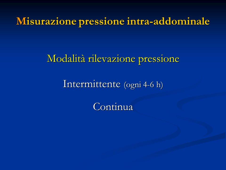 Misurazione pressione intra-addominale