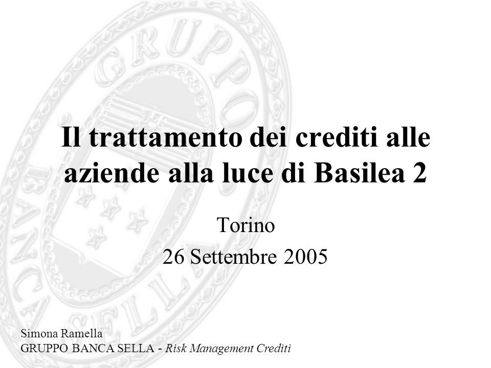 Il trattamento dei crediti alle aziende alla luce di Basilea 2