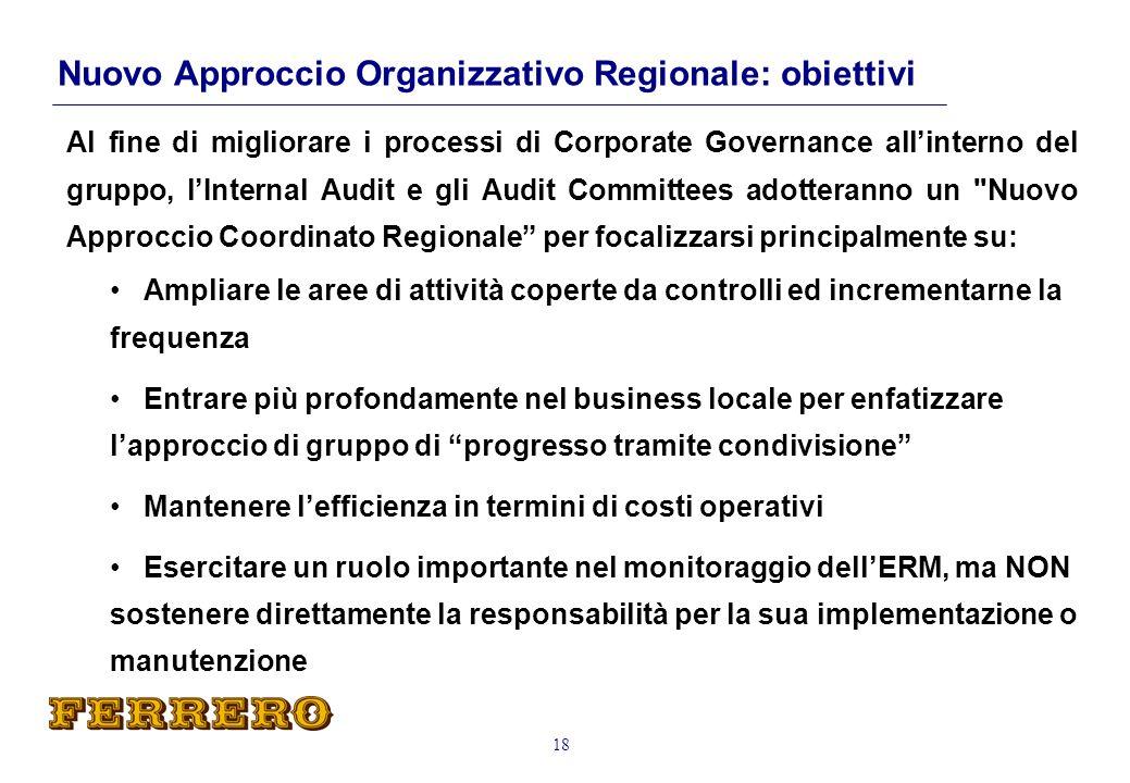 Nuovo Approccio Organizzativo Regionale: obiettivi