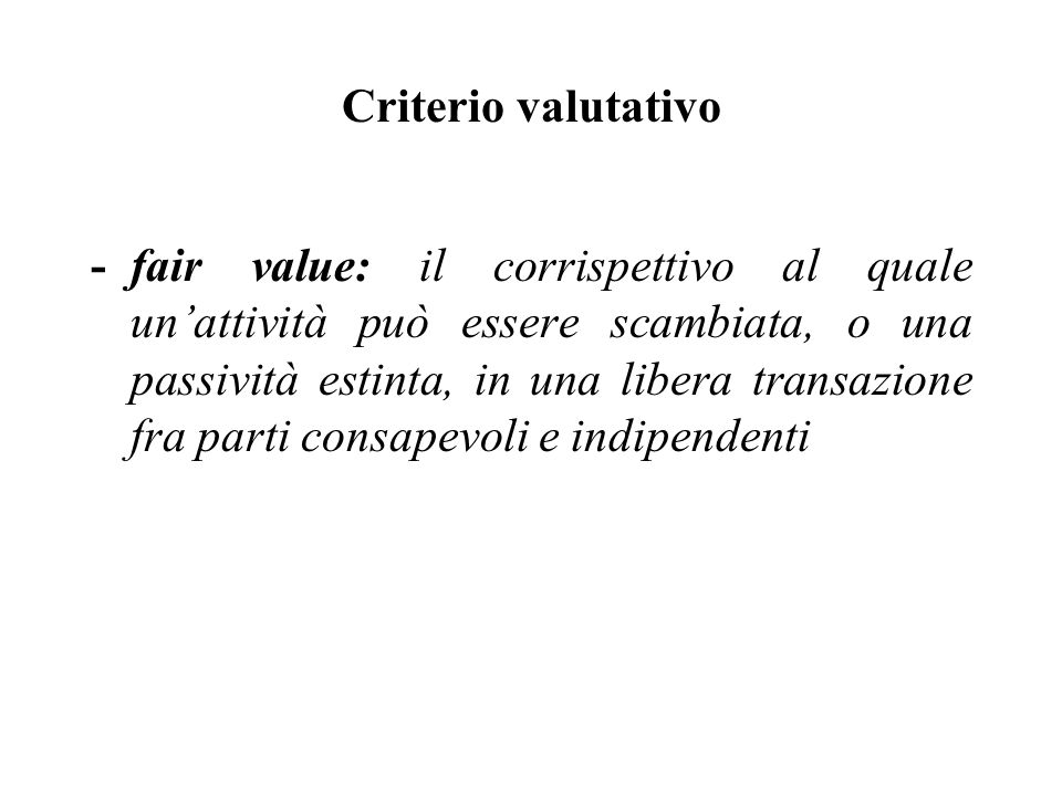 Criterio valutativo