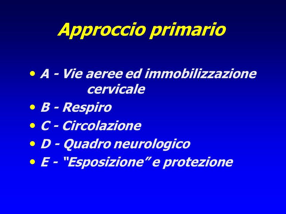 Approccio primario A - Vie aeree ed immobilizzazione cervicale